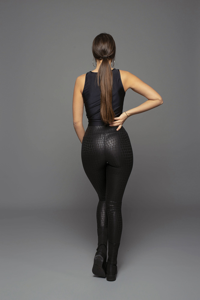 Croco leggings